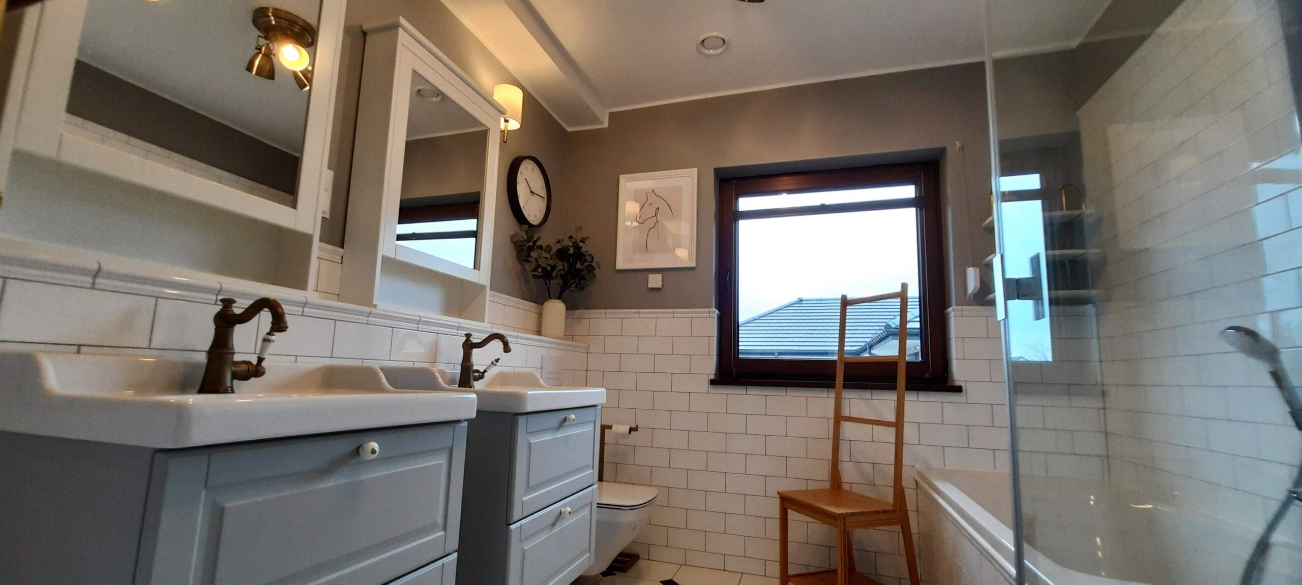 Łazienka styl rustykalny