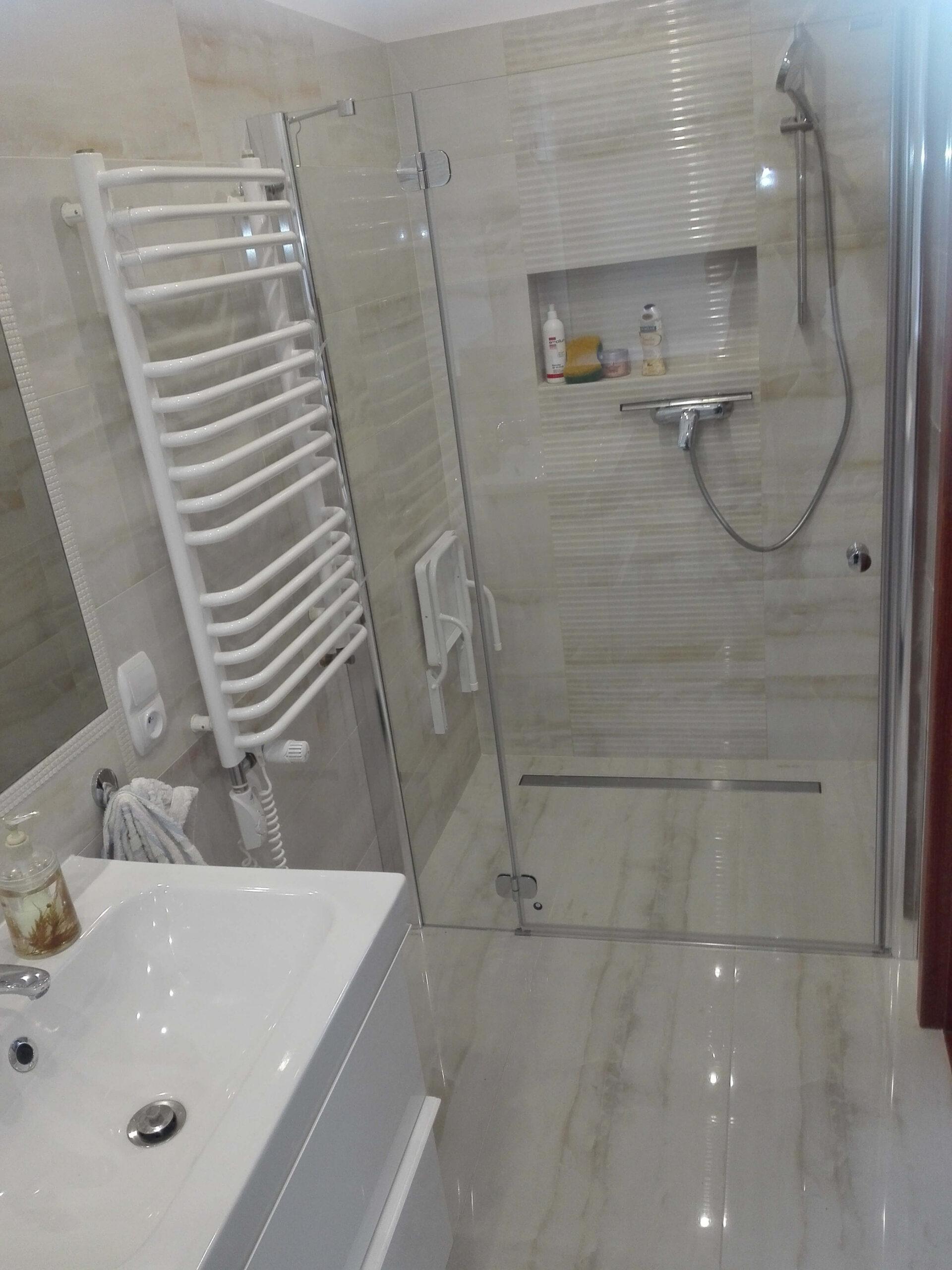 Łazienka marmur beżowy